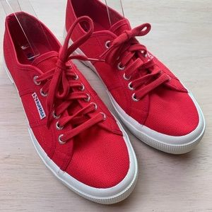 Superga | red canvas sneaker | NWOT